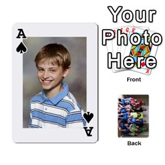 Ace Grandkids Playing Cards By Kathy Rayhons   Playing Cards 54 Designs   F4o6p7nstq3k   Www Artscow Com Front - SpadeA