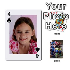 Grandkids Playing Cards By Kathy Rayhons   Playing Cards 54 Designs   F4o6p7nstq3k   Www Artscow Com Front - Spade4