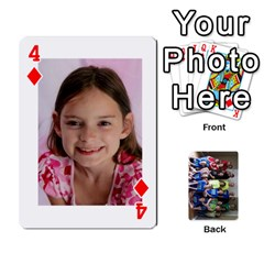 Grandkids Playing Cards By Kathy Rayhons   Playing Cards 54 Designs   F4o6p7nstq3k   Www Artscow Com Front - Diamond4