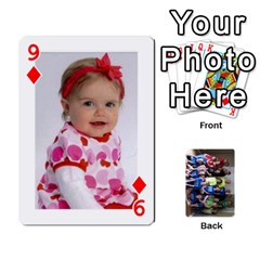 Grandkids Playing Cards By Kathy Rayhons   Playing Cards 54 Designs   F4o6p7nstq3k   Www Artscow Com Front - Diamond9
