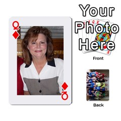 Queen Grandkids Playing Cards By Kathy Rayhons   Playing Cards 54 Designs   F4o6p7nstq3k   Www Artscow Com Front - DiamondQ