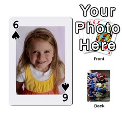 Grandkids Playing Cards By Kathy Rayhons   Playing Cards 54 Designs   F4o6p7nstq3k   Www Artscow Com Front - Spade6