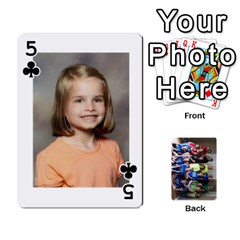 Grandkids Playing Cards By Kathy Rayhons   Playing Cards 54 Designs   F4o6p7nstq3k   Www Artscow Com Front - Club5