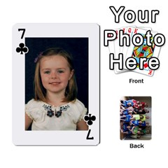 Grandkids Playing Cards By Kathy Rayhons   Playing Cards 54 Designs   F4o6p7nstq3k   Www Artscow Com Front - Club7