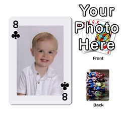 Grandkids Playing Cards By Kathy Rayhons   Playing Cards 54 Designs   F4o6p7nstq3k   Www Artscow Com Front - Club8