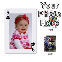 Grandkids Playing Cards By Kathy Rayhons   Playing Cards 54 Designs   F4o6p7nstq3k   Www Artscow Com Front - Club9