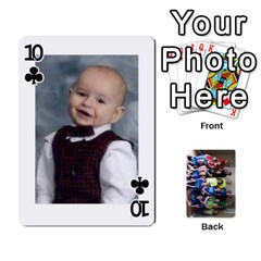 Grandkids Playing Cards By Kathy Rayhons   Playing Cards 54 Designs   F4o6p7nstq3k   Www Artscow Com Front - Club10