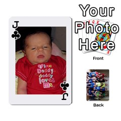 Jack Grandkids Playing Cards By Kathy Rayhons   Playing Cards 54 Designs   F4o6p7nstq3k   Www Artscow Com Front - ClubJ