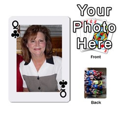 Queen Grandkids Playing Cards By Kathy Rayhons   Playing Cards 54 Designs   F4o6p7nstq3k   Www Artscow Com Front - ClubQ