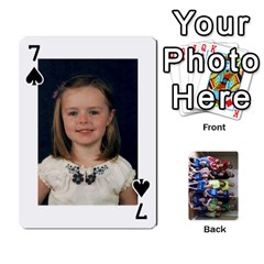 Grandkids Playing Cards By Kathy Rayhons   Playing Cards 54 Designs   F4o6p7nstq3k   Www Artscow Com Front - Spade7