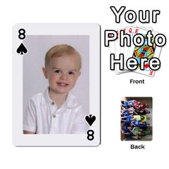 Grandkids Playing Cards By Kathy Rayhons   Playing Cards 54 Designs   F4o6p7nstq3k   Www Artscow Com Front - Spade8