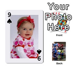 Grandkids Playing Cards By Kathy Rayhons   Playing Cards 54 Designs   F4o6p7nstq3k   Www Artscow Com Front - Spade9