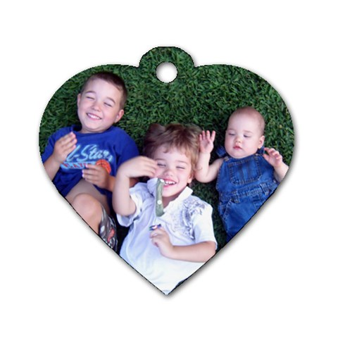 Kids Key Chain By Kate   Dog Tag Heart (one Side)   Gyo2278hh3x4   Www Artscow Com Front