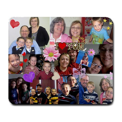 My Family By Jennifer   Collage Mousepad   Fc2hnx3jtdhq   Www Artscow Com 9.25 x7.75 Mousepad - 1