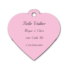 Belle By Megan Walker   Dog Tag Heart (two Sides)   4p5q8ldfzxim   Www Artscow Com Back