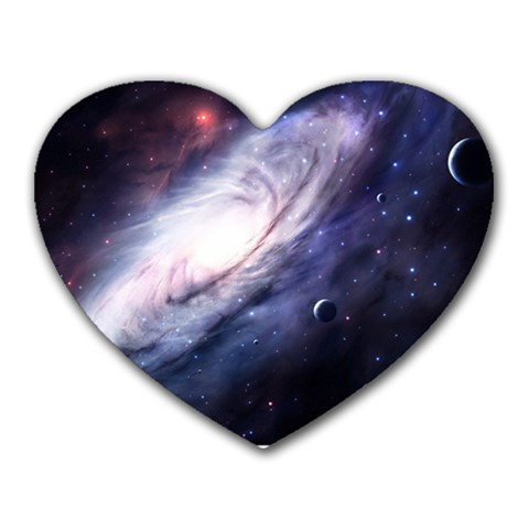 Space Heart By Jessie Simcox   Heart Mousepad   Pe42fg75zrce   Www Artscow Com Front
