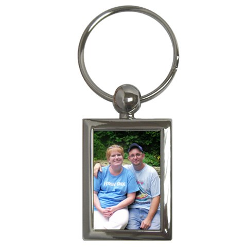 Scott And I  By Laura Fallis   Key Chain (rectangle)   D6npmhb1ndil   Www Artscow Com Front