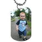 Dogtag of our Timmy walking! - Dog Tag (One Side)