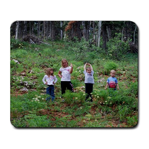 Camping!! By Tina Grande   Large Mousepad   X7thhn1eb7j5   Www Artscow Com Front