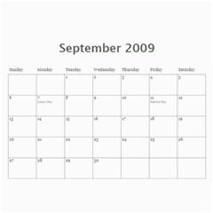 Calendar 2009 By Aileen   Wall Calendar 11  X 8 5  (12 Months)   666y3a8uro0o   Www Artscow Com Sep 2009