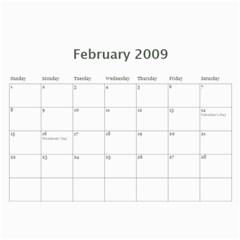 Calendar 2009 By Aileen   Wall Calendar 11  X 8 5  (12 Months)   666y3a8uro0o   Www Artscow Com Feb 2009