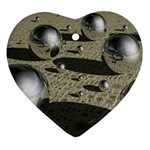 3d Chrome Balls Ornament (Heart)