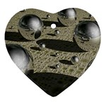 3d Chrome Balls Heart Ornament (Two Sides)