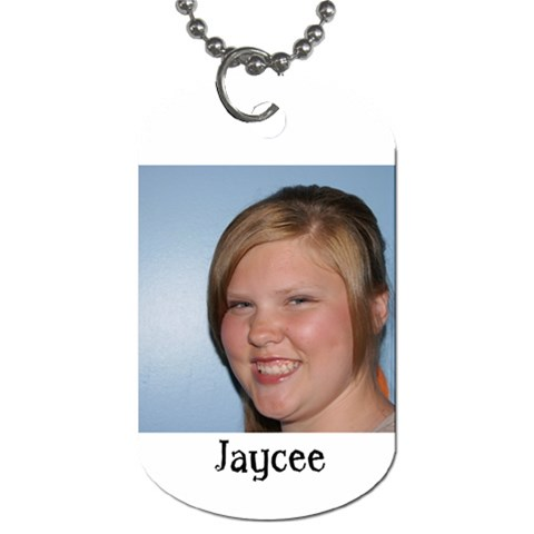 Jaycee Dog Tag By Christy Goodwin   Dog Tag (one Side)   Mn3cth4gy2iv   Www Artscow Com Front