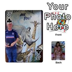 Jack Personalised Cards By Jemma Spring    Playing Cards 54 Designs   8qcn7xfbaquq   Www Artscow Com Front - ClubJ