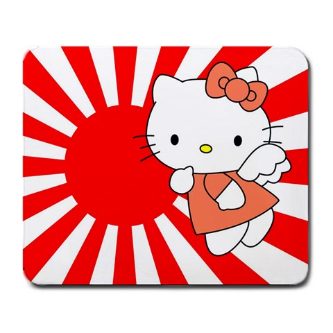 Hello Kitty Mousepad By Carson Deepthought Gordon   Large Mousepad   Djhd8u6pj3q5   Www Artscow Com Front