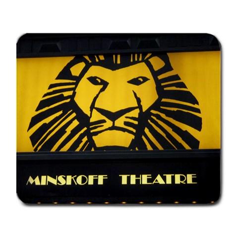 Minskoff Theatre By Devon Stewart   Large Mousepad   L9mtx3iu3gta   Www Artscow Com Front