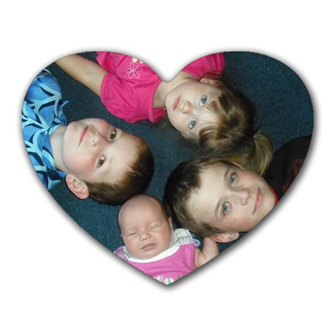 My Kids By Kristina Hansen   Heart Mousepad   Ne7weqs4hxeo   Www Artscow Com Front