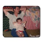 Me and dad! - Large Mousepad