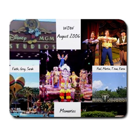Disney 2006 By Karen Perrin   Collage Mousepad   Dwbrfovky9dl   Www Artscow Com 9.25 x7.75 Mousepad - 1