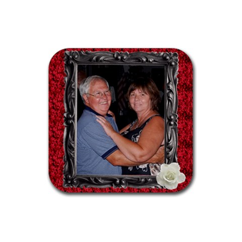 Mom Dad Coaster By Tracy Peterman   Rubber Coaster (square)   8me66mki8szn   Www Artscow Com Front