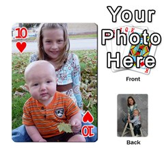 Personalized Playing Cards By Jennfer   Playing Cards 54 Designs   4jfw9h1dxy1p   Www Artscow Com Front - Heart10