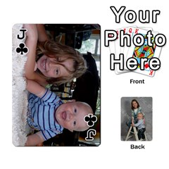 Jack Personalized Playing Cards By Jennfer   Playing Cards 54 Designs   4jfw9h1dxy1p   Www Artscow Com Front - ClubJ