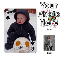 Personalized Playing Cards By Jennfer   Playing Cards 54 Designs   4jfw9h1dxy1p   Www Artscow Com Front - Spade8