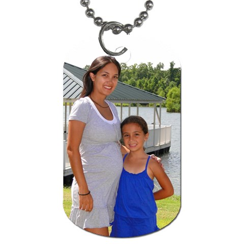 Dog Tag By Christina Sambogna Borcina   Dog Tag (one Side)   Ga1kn6fixxf1   Www Artscow Com Front