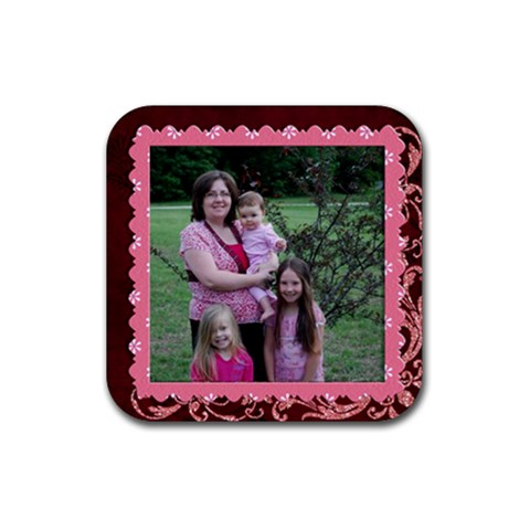 Me N Girls Coaster By Tracy Peterman   Rubber Coaster (square)   4d8mzt4bukpq   Www Artscow Com Front