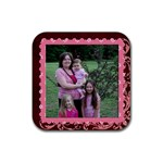 me n girls coaster - Rubber Coaster (Square)