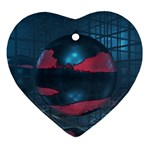 3d Ball on Glass room Ornament (Heart)