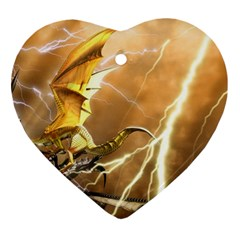 3d battle dragon Ornament (Heart) from ArtsNow.com Front
