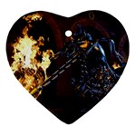 3d Blue Thorns Heart Ornament (Two Sides)