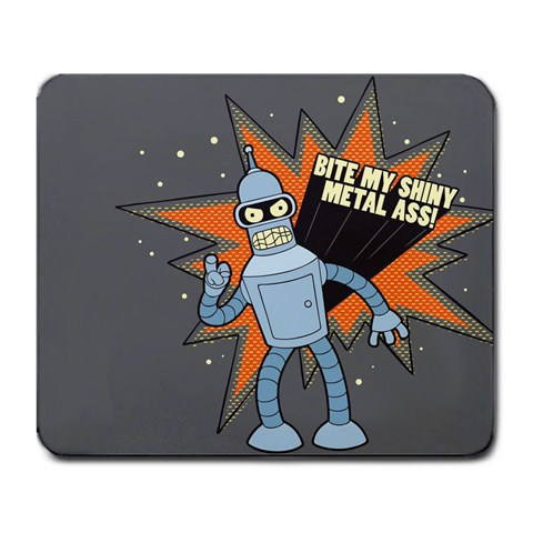Bender By Алексей Галочкин   Large Mousepad   Who0f3dcvyns   Www Artscow Com Front
