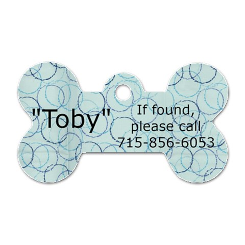 Toby By Jennifer Russ   Dog Tag Bone (one Side)   Oj9albxzsc3d   Www Artscow Com Front