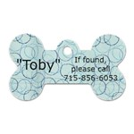 Toby - Dog Tag Bone (One Side)
