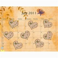 Calendar By Kanika   Wall Calendar 11  X 8 5  (12 Months)   O8dhmxkfnnu9   Www Artscow Com Jul 2011