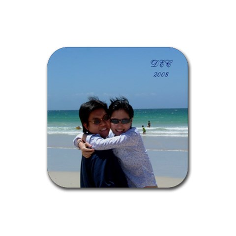 9th Anniversary By Bebee   Rubber Coaster (square)   81jeya483m2i   Www Artscow Com Front
