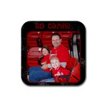 cards coaster - Rubber Coaster (Square)